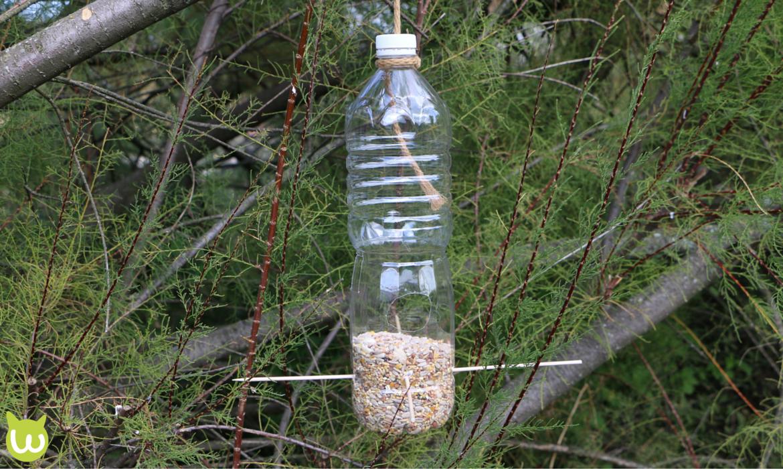 Comment fabriquer une mangeoire oiseau recyclable for Fabriquer une arche de jardin
