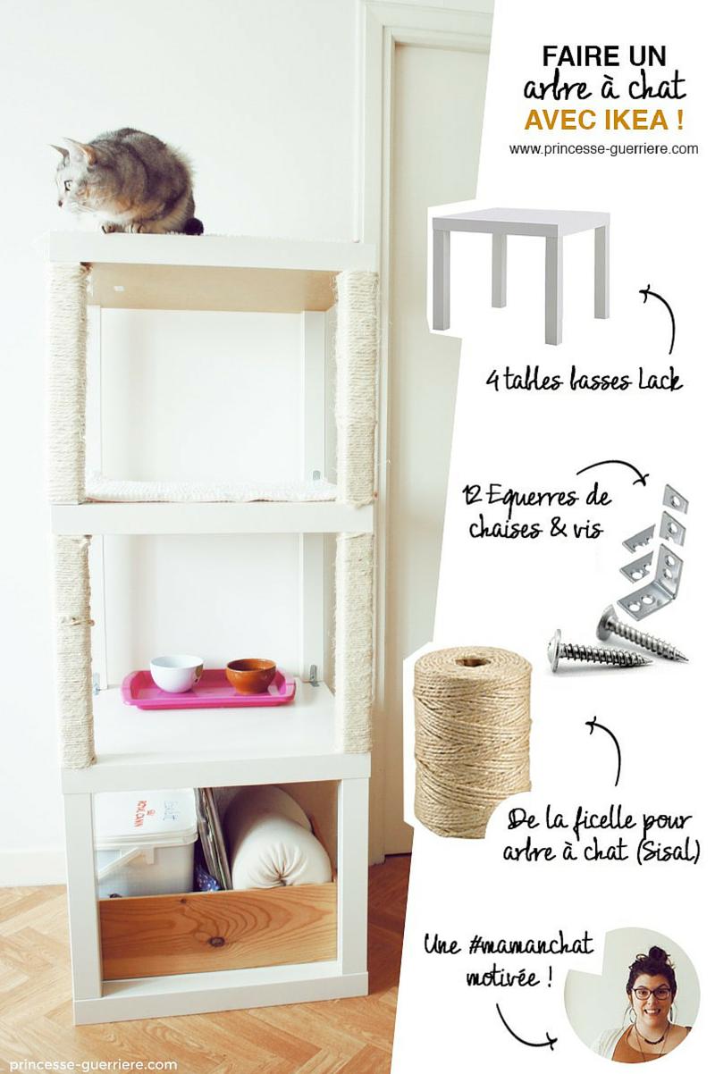 Griffoir Chat Fait Maison comment fabriquer un arbre à chat ? diy ikea - wanimobuzz